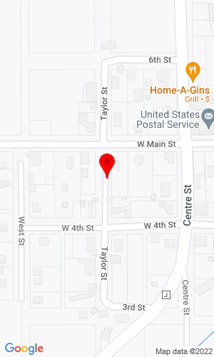 Google Map of Keeney Motors 119 North Taylor Street, Mount Hope, WI, 53816-0037