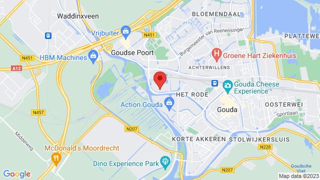 Motorhuis+Gouda op Google Maps