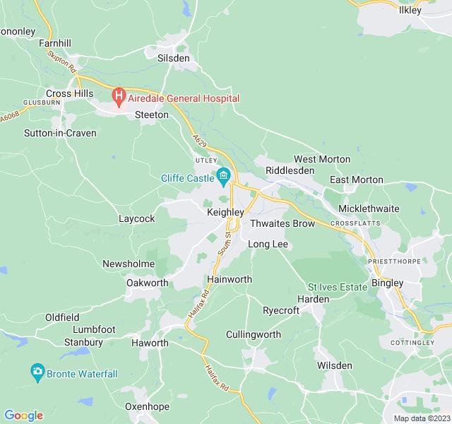 Website Designer Keighley Google map of location