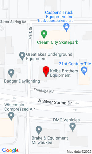 Google Map of Kelbe Brothers Equipment Co., Inc. 12770 W Silver Spring Drive, Butler, WI, 53007