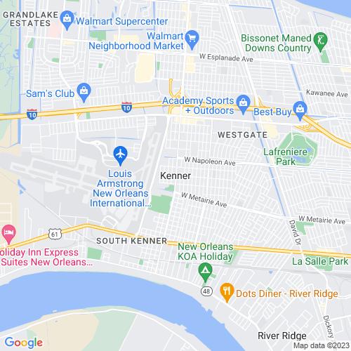 Map of Kenner, LA