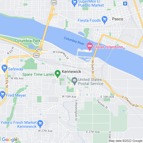 Map of Kennewick, WA