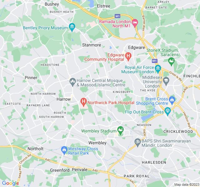 Website Designer Kenton Google map of location