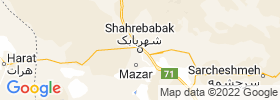 Shahr E Babak map