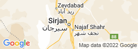 Sirjan map