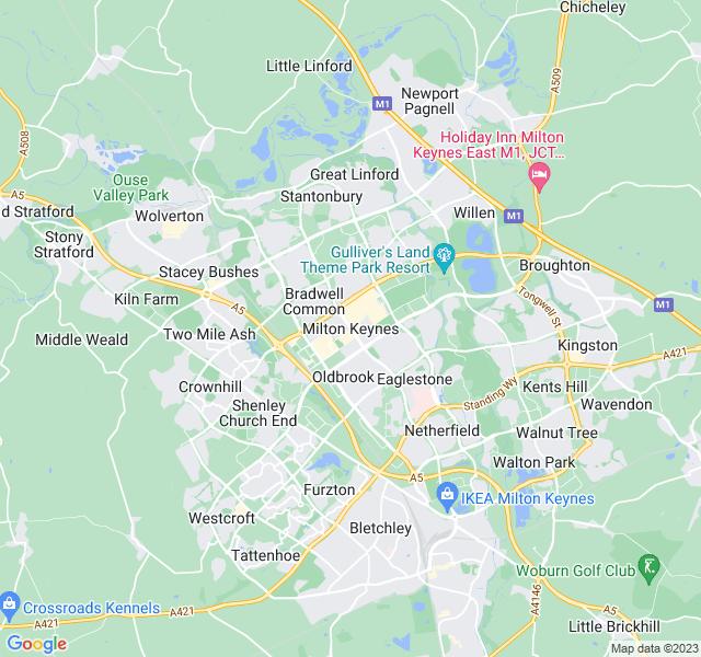 Website Designer Keynes Google map of location