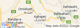 Aghajari map