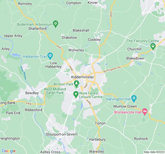 Website Designer Kidderminster Google map of location