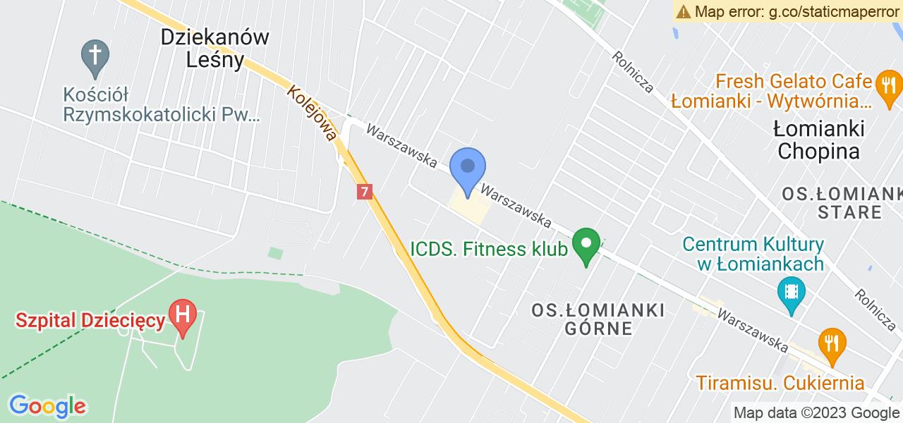 Jedna z ulic w Kiełpinie Poduchownym – Mokra i mapa dostępnych punktów wysyłki uszkodzonej turbiny do autoryzowanego serwisu regeneracji