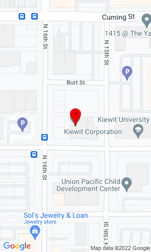 Google Map of Kiewit Corporation 1000 Kiewit Plaza, Omaha, NE, 68131