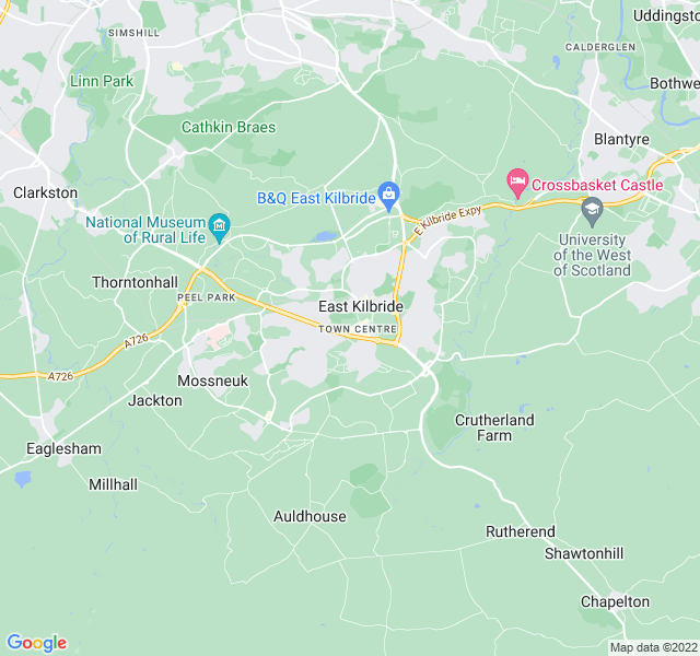 Website Designer Kilbride Google map of location