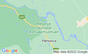 Map of Camping Lac Chigoubiche - Réserve Faunique Ashuapmushuan