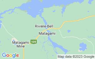 Map of Camping Du Lac Matagami