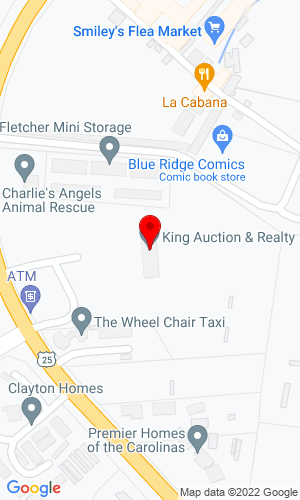Google Map of King Auction & Realty Co., Inc. PO Box 800, Fletcher, NC, 28732