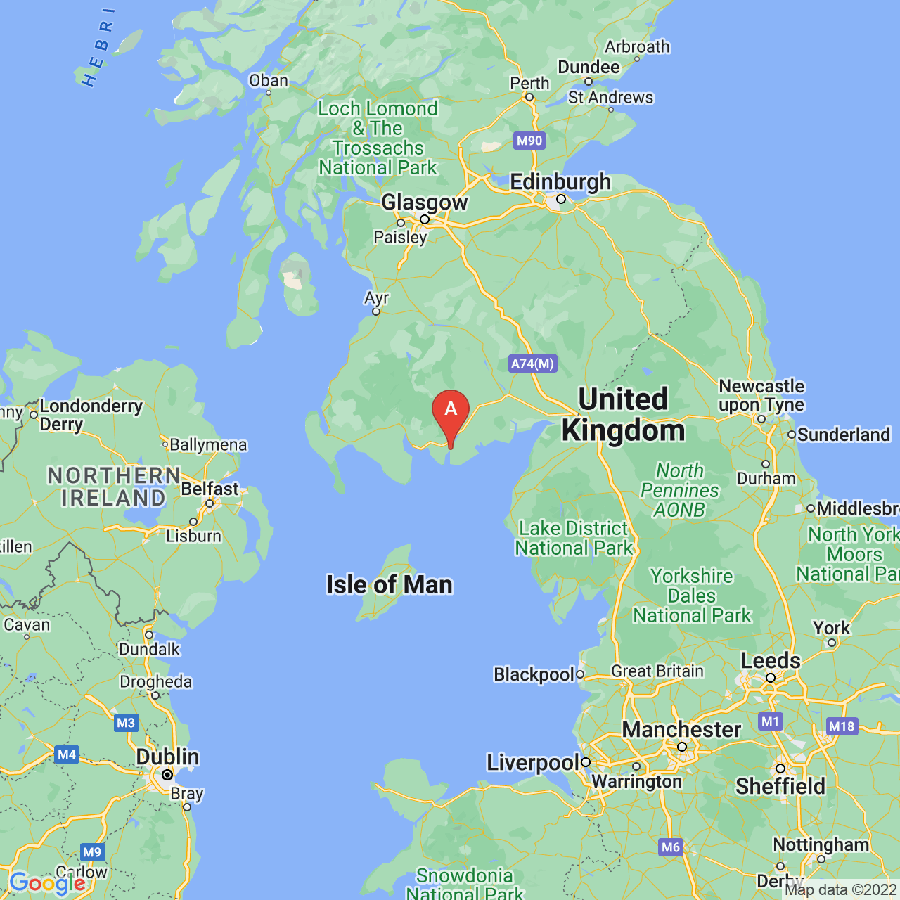 Kirkcudbright, Scotland Map