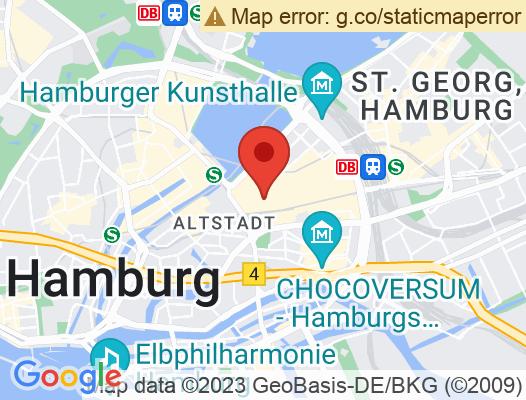 Google Map of Kleine Rosenstraße 10, 20095 Hamburg