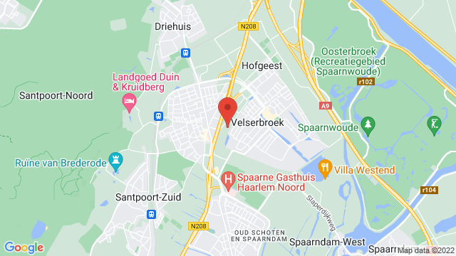 Velserbroek op Google Maps