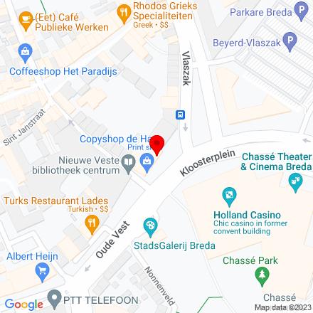 Google Map of Kloosterplein 5 4811 GN Breda