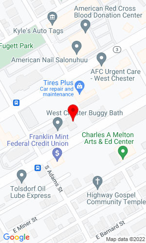 Google Map of Knox Equipment Rentals, Inc. 421 E Market Street, West Chester, PA, 19382
