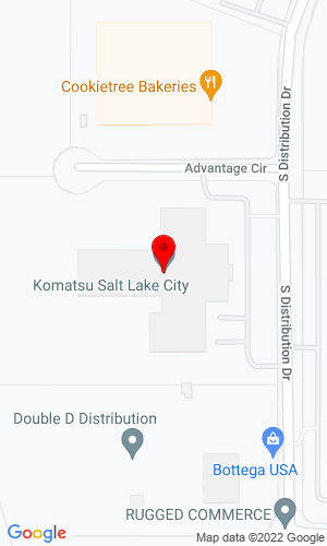 Google Map of Komatsu Equipment Company 1486 S Distribution Drive, Salt Lake City, UT, 84104