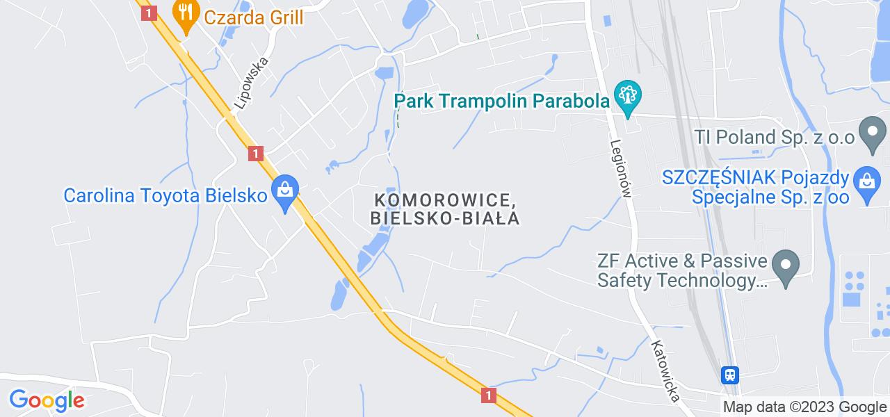 Osiedle Komorowice Krakowskie w Bielsku-Białej – w tych punktach ekspresowo wyślesz turbinę do autoryzowanego serwisu