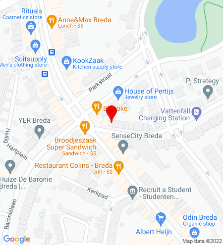 Google Map of Koninginnestraat 1B 4818 HA Breda