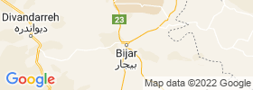 Bijar map