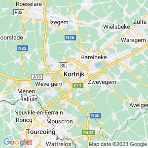 Werkgebied van onze bestrijder in Kortrijk