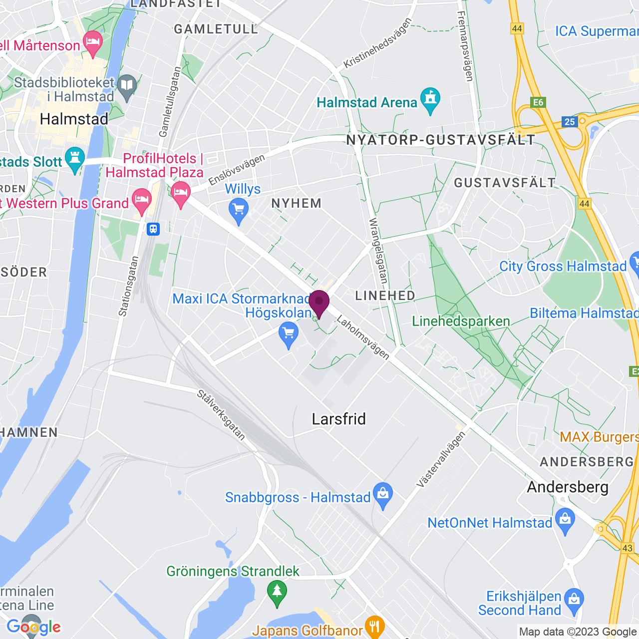 Karta över Kristian IV:s väg 3