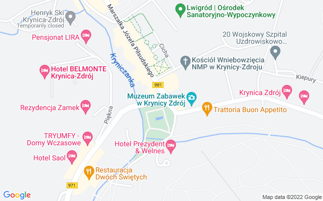 Show map of Krynica