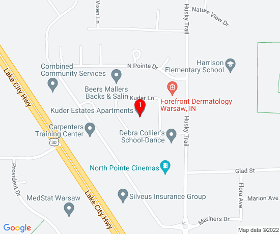 Google Map of Kuder Estates Apartments