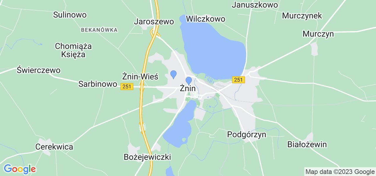Dostępne w Żninie lokalizacje punktów nadania, z których możesz skorzystać, chcąc wysłać turbinę do regeneracji w największym serwisie w Polsce