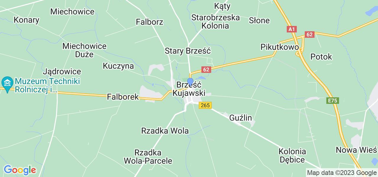 Dostępne w Brześciu Kujawskim lokalizacje punktów nadania, z których możesz skorzystać, chcąc wysłać turbinę do regeneracji w największym serwisie w Polsce