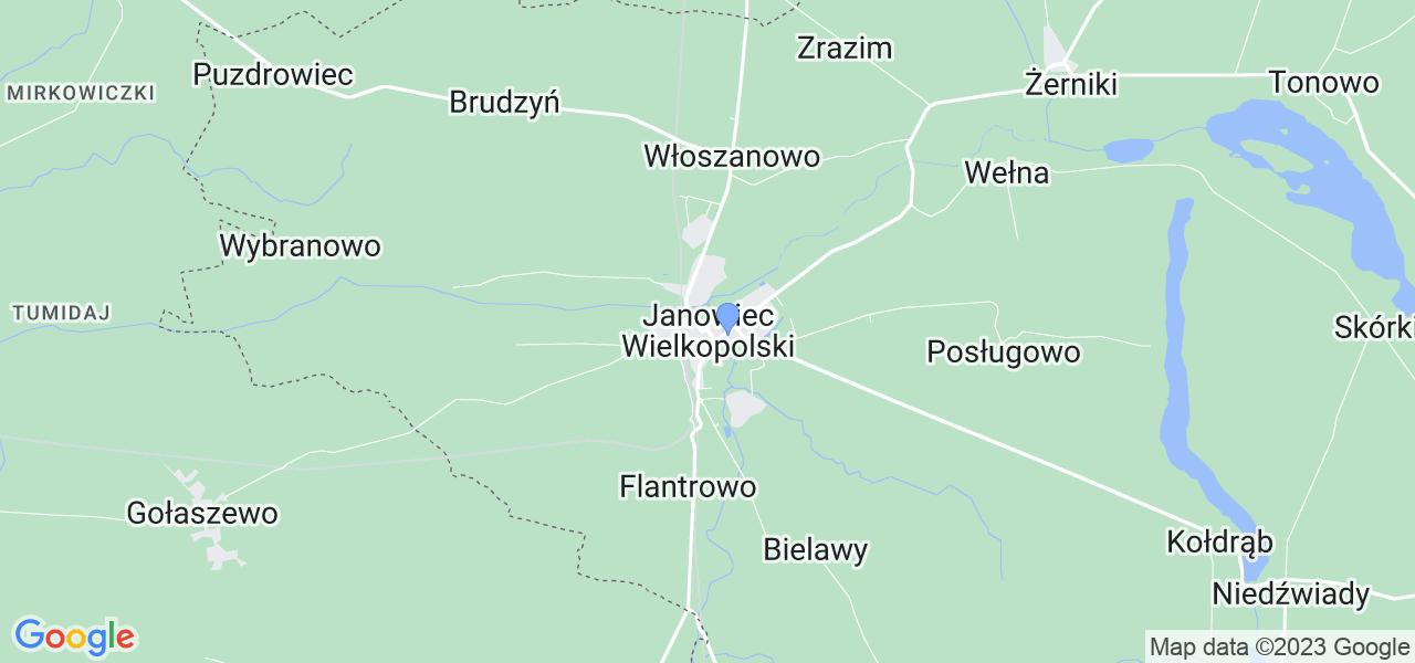 Dostępne w Janowcu Wielkopolskim lokalizacje punktów nadania, z których możesz skorzystać, chcąc wysłać turbinę do regeneracji w największym serwisie w Polsce