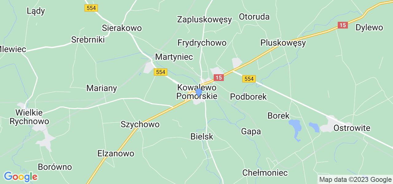 Dostępne w Kowalewie Pomorskim lokalizacje punktów nadania, z których możesz skorzystać, chcąc wysłać turbinę do regeneracji w największym serwisie w Polsce