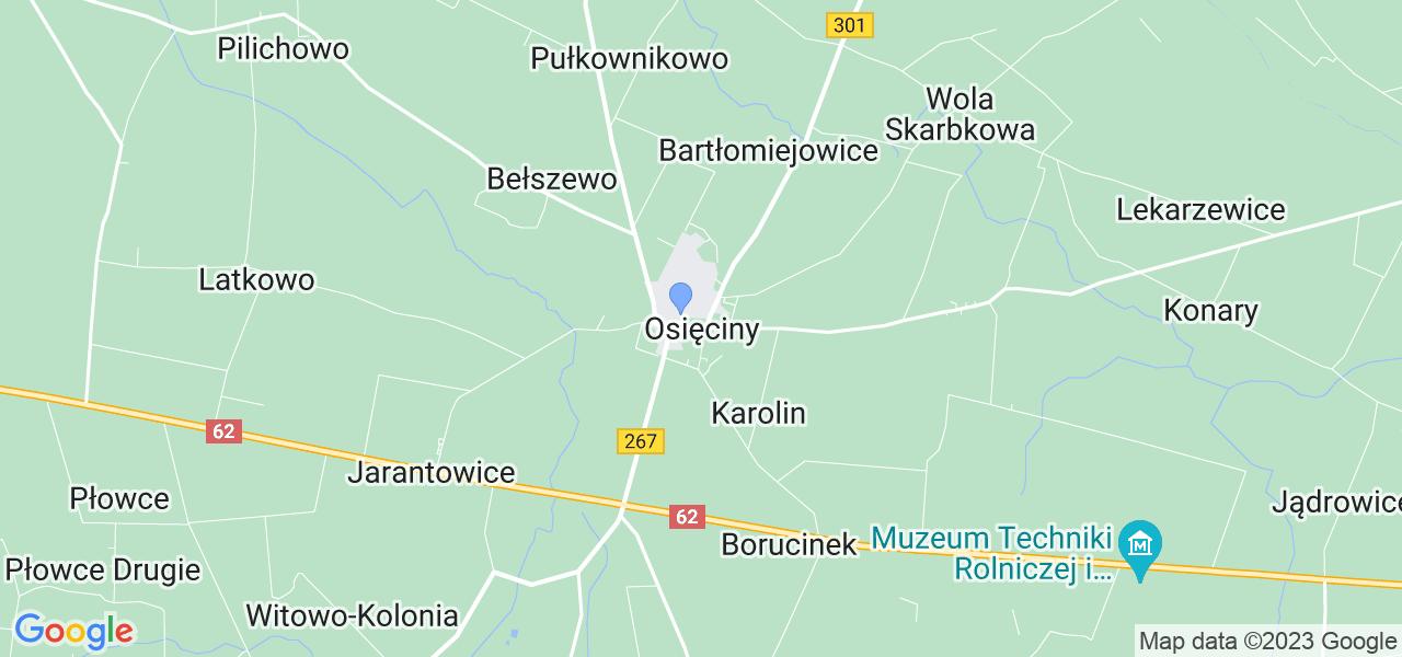 Dostępne w Osięcinach lokalizacje punktów nadania, z których możesz skorzystać, chcąc wysłać turbinę do regeneracji w największym serwisie w Polsce