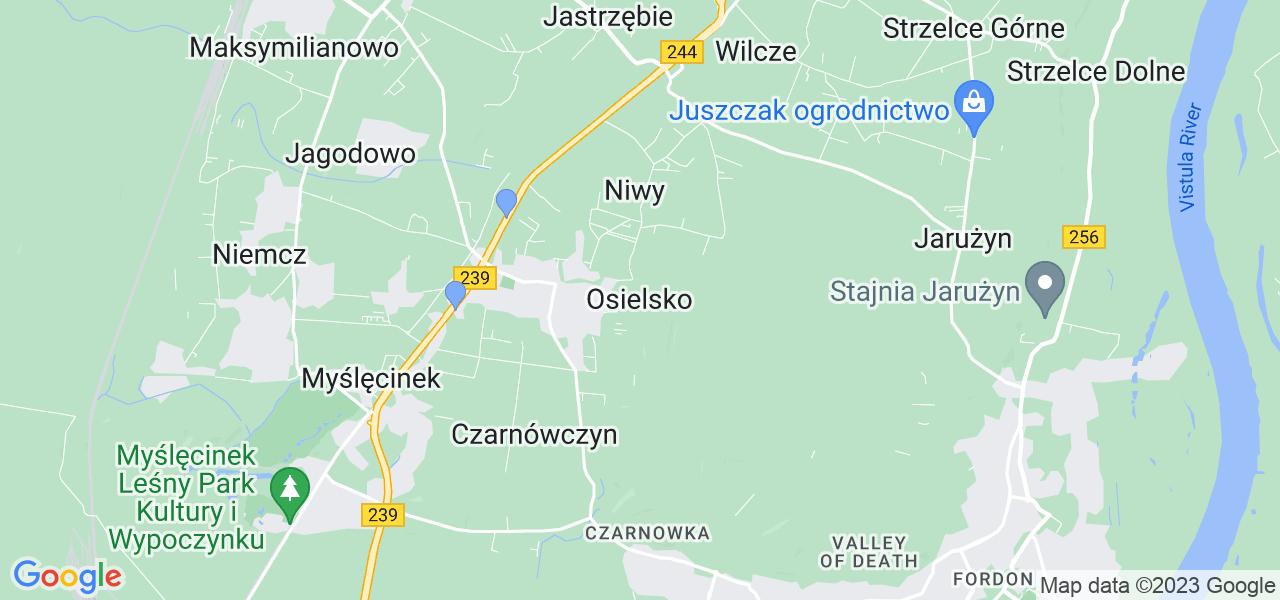 Dostępne w Osielsku lokalizacje punktów nadania, z których możesz skorzystać, chcąc wysłać turbinę do regeneracji w największym serwisie w Polsce