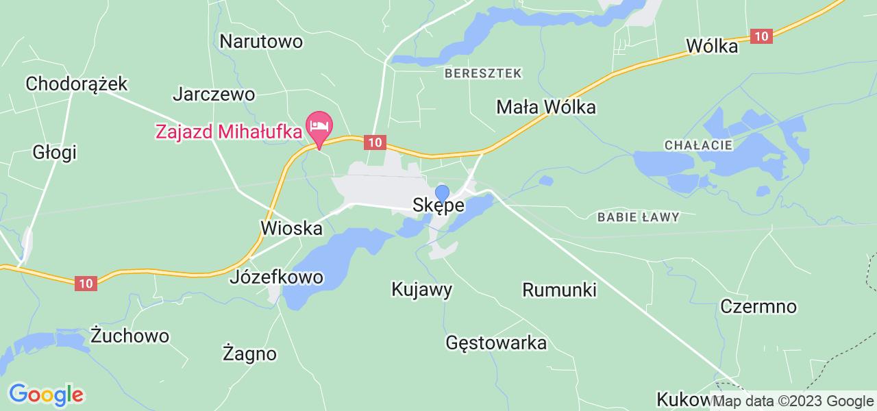 Dostępne w Skępym lokalizacje punktów nadania, z których możesz skorzystać, chcąc wysłać turbinę do regeneracji w największym serwisie w Polsce
