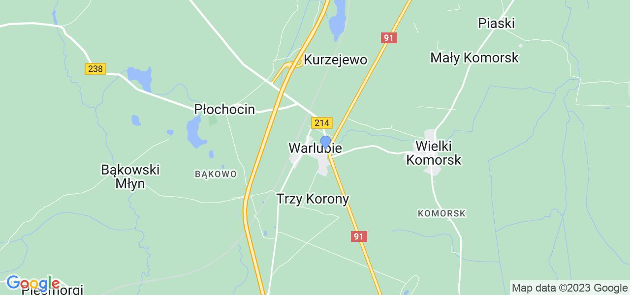 Dostępne w Warlubiu lokalizacje punktów nadania, z których możesz skorzystać, chcąc wysłać turbinę do regeneracji w największym serwisie w Polsce