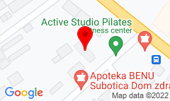 Google Map of Kumičićeva 4, Subotica