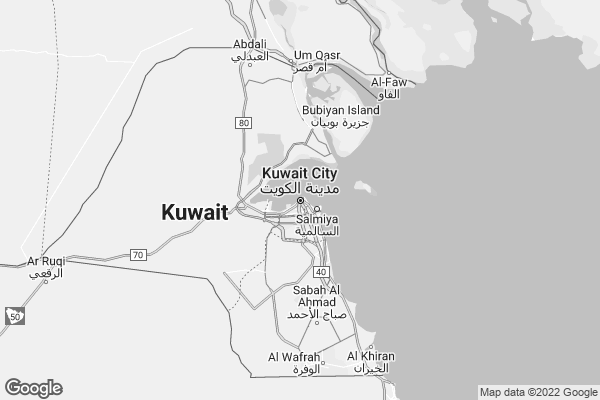 Map of Kuwait City