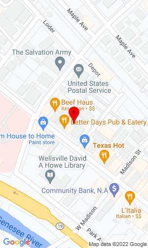 Google Map of L C Whitford Equipment Co. 4316 Bolivar Road, Wellsville, NY, 14895