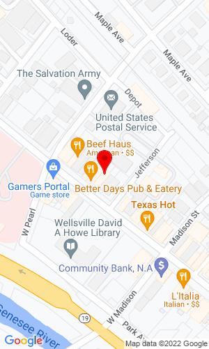 Google Map of L C Whitford Equipment Co. 4316 Bolivar Road, Wellsville, NY, 14895,