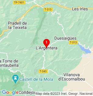 Google Map of L´Argentera, Tarragona, Spain