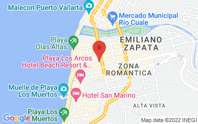 Map of Puerto Vallarta, Jalisco, Mexico