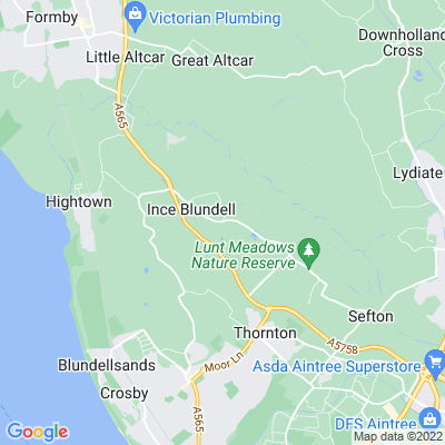 Ince Blundell Hall Location