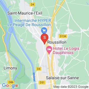 Carte Serrurier Le Péage-de-Roussillon