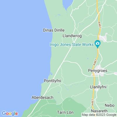 Plas Newydd, Llandwrog Location