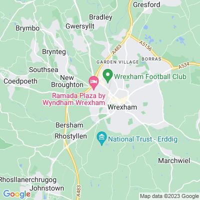 Wrexham Cemetery Location