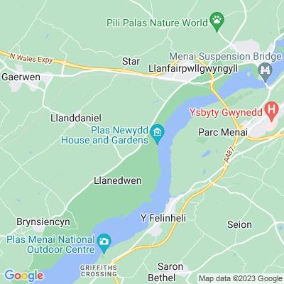 Plas Newydd, Llanfairpwllgwyngyll Location